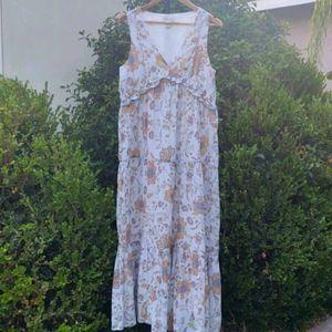 Rachel Zoe Boho peasant style Maxi dress Med